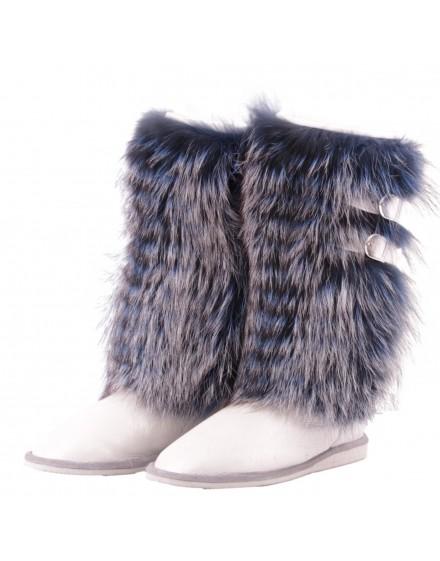 Skórzane buty Melfi- Biały
