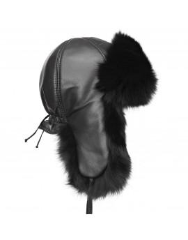 Skórzana czapka Kinga Fox
