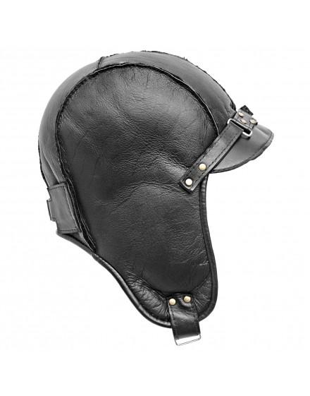 Skórzana czapka Olaf Lato- czarny