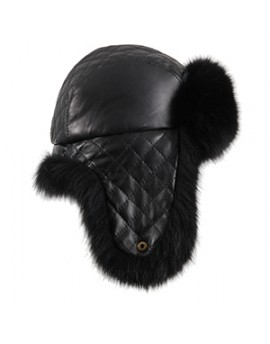 Skórzana czapka Livia fox