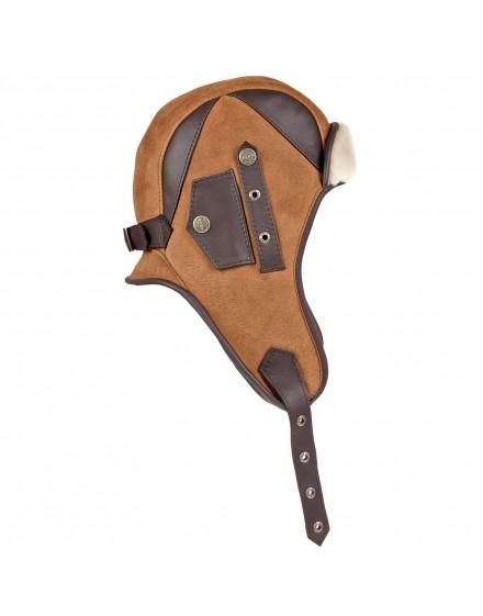 Skórzana czapka Calgar- brązowy