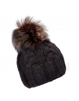 Dzianinowa czapka Rio- brąz