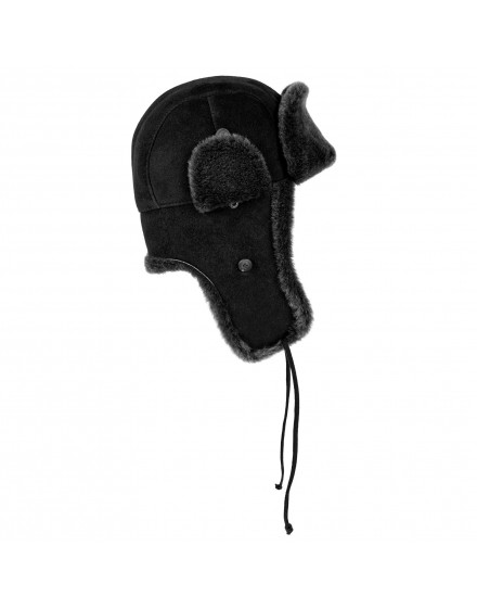 Skórzana czapka Easy Rider Lato- czarny