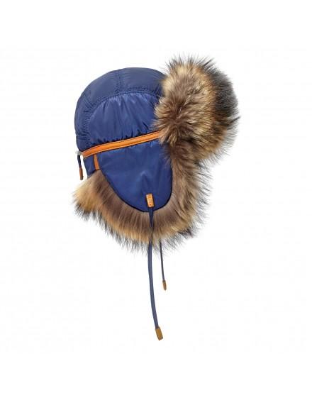 Tekstylna czapka Yukon Finn- niebieski