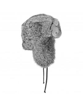 Futrzana czapka Papacha Rabbit- szary