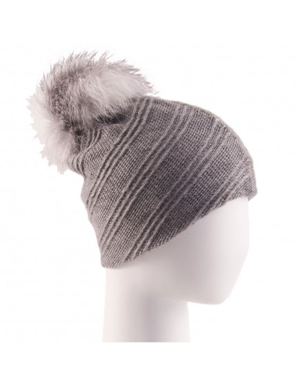 Dzianinowa czapka Nova- szary