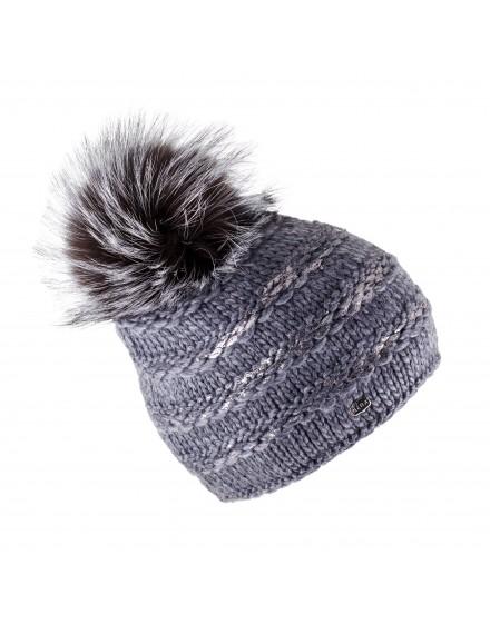 Dzianinowa czapka Miracle- szary
