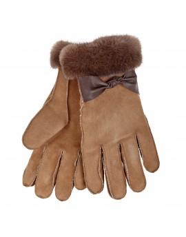Rękawice skórzane Lady Elegance- Beż