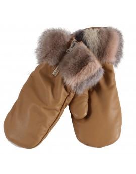 Skórzane rękawice Umbro- Beż