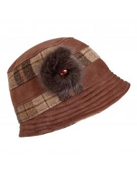 Skórzana czapka Nonna
