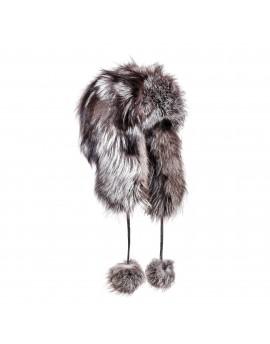 Futrzana czapka Syberia Silver