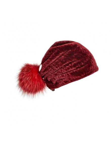 Skórzana czapka Elm Kid- Czerwony