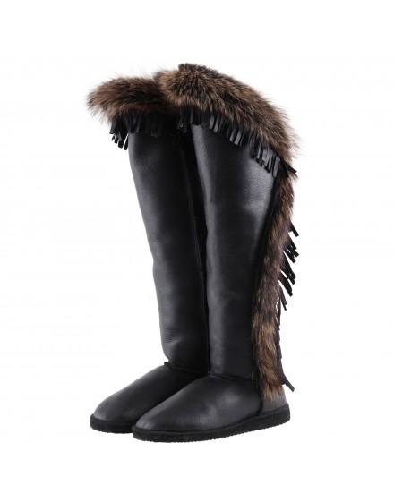 Buty skórzane Zora- ciemny brąz
