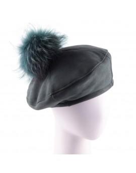 Skórzana czapka Renate Pom