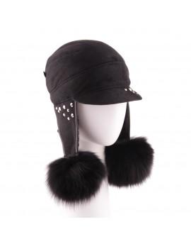 Skórzana czapka Paris Bis