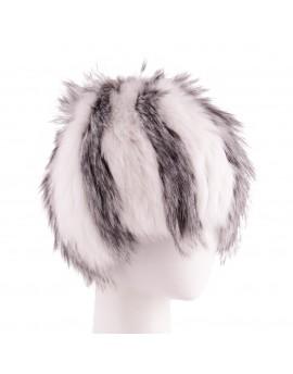 Futrzana czapka Alice- Biały