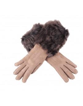 Rękawice skórzane Porca- Beż