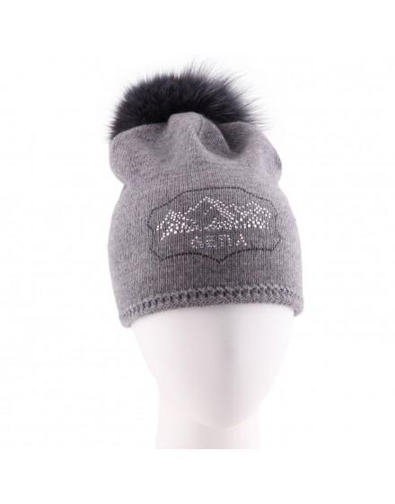 Dzianinowa czapka Smerphi Jet- szary