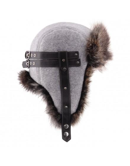 Wełniana czapka Eskimo Wool American- szary