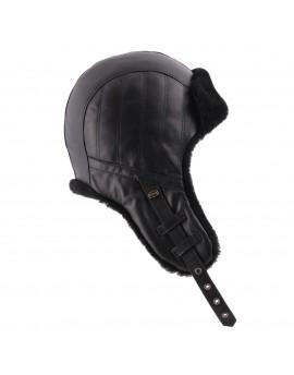 Skórzana czapka Remus- szary