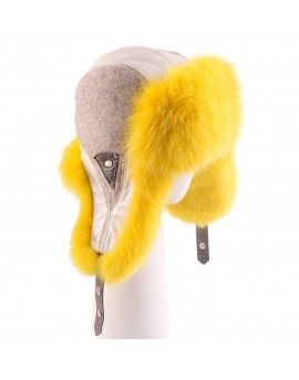 Wełniana czapka Sima-żółty