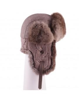 Wełniana czapka Waldek Wool Rabbit- Beż