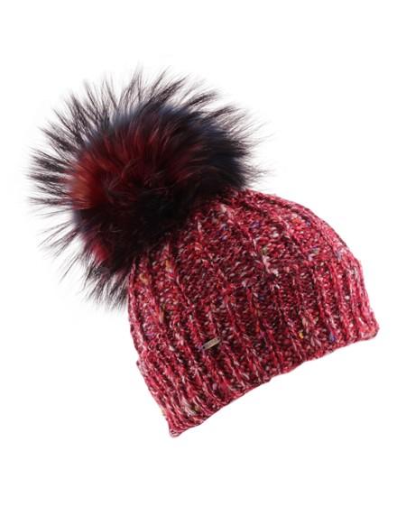 Dzianinowa czapka Trio- Czerwony