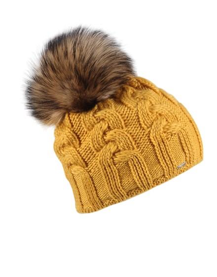 Dzianinowa czapka Rio- żółty