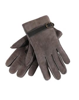Skórzane rękawice Kosma- czarny