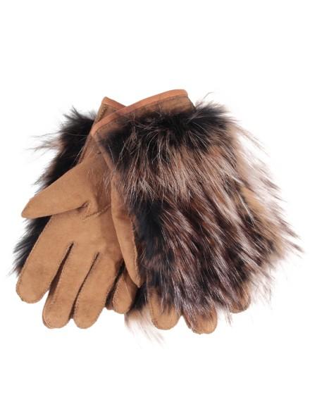 Rękawice skórzane Lario- rudy