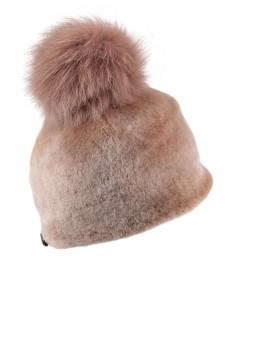 Futrzana czapka Kasta Merino- Beż