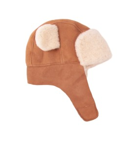 Skórzana czapka Teddy Baby