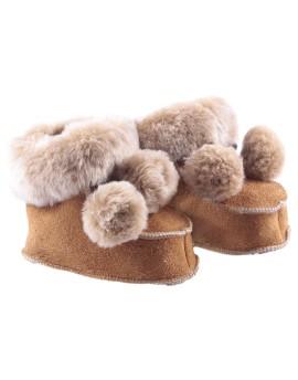 Pantofelki skórzane Pom