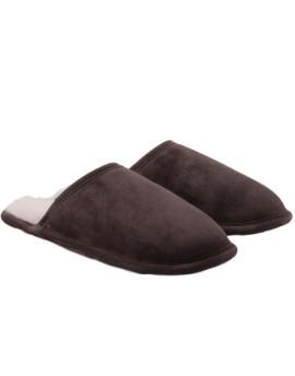 Pantofle skórzane Cosy - brązowy