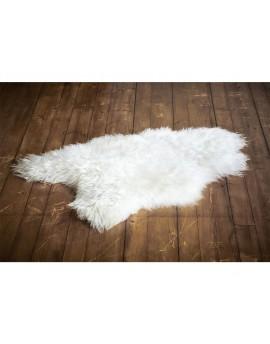 Skóra owcza Island biała- średnia