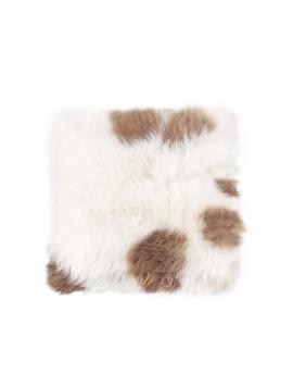 Poduszka ze skóry owczej- mała (biało-brązowa)