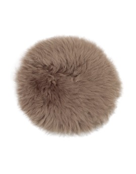 Siedzisko ze skóry owczej- okrągłe