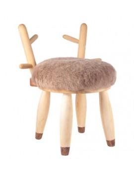stołek jelonek- jasny brąz