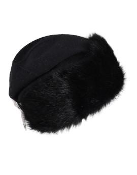 Dzianinowa czapka Amanda - czarny