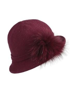 Dzianinowy kapelusz Moly - szary