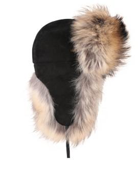 Skórzana czapka Velvet- Beż
