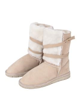 Buty skórzane Robi- beż