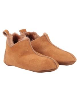 Pantofle skórzane Dakota- beż