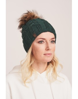 Dzianinowa czapka Rio- zielony