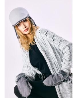 Filcowa czapka Cynthia- szary