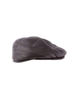 Skórzany kaszkiet Vasco Bis - brąz