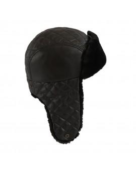 Skórzana czapka Livia Merino
