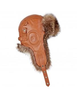 Skórzana czapka Rekrut Szop