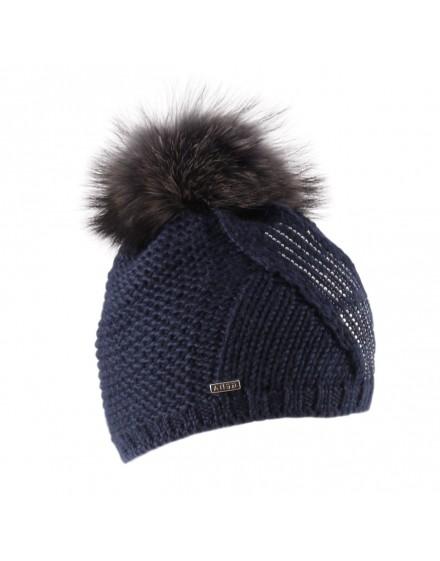 Dzianinowa czapka Linn- granatowy