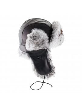 Skórzana czapka Waldek Rabbit Kid- Biały